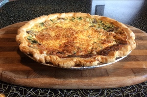 Whole Pie—Spinach Mushroom Swiss Cheese Quiche